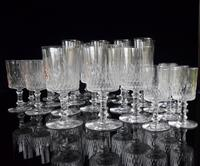 Baccarat Crystal 29 piece Cylindrique suite Richelieu pattern c1916 (2 of 5)