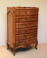 French Cherry Wood Tall Chest of Drawers (2 of 12)
