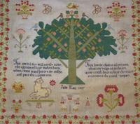Good 19th Century Embroidery Sampler by Jane Kay 1897 (3 of 8)