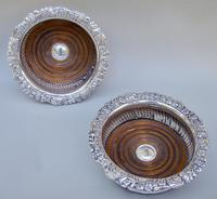 Stunning Pair of William IV Old Sheffield Plate Wine Coasters c.1835 (2 of 5)