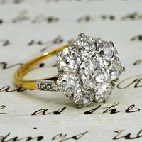 The Antique 3 Carat Diamond Cluster Ring (2 of 6)