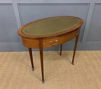 Edwardian Oval Inlaid Mahogany Writing Table (8 of 13)