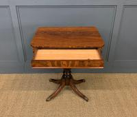 19th Century Flame Mahogany Lamp Table (6 of 10)