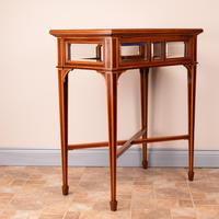 Fine Quality Edwardian Inlaid Mahogany Bijouterie Display Table (12 of 18)