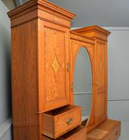 Stunning Victorian Satinwood & Marquetry Compactum Wardrobe (10 of 24)