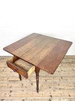 Antique 19th Century Welsh Oak Pembroke Table (8 of 10)