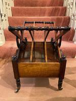 Regency period Rosewood 3-section X-Frame Canterbury (5 of 6)