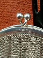 Antique Sterling Silver Hallmarked Art Deco Chain Mail Bag Purse 1923 London A M & M Ltd (10 of 12)