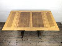 Antique Oak Draw Leaf Table (3 of 8)