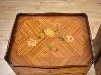 Pair of Louis XVI Style Marquetry Inlaid Bedsides Cabinets (5 of 8)