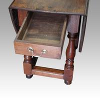 Large Antique Oak Gateleg Dining Table (2 of 13)