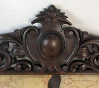 Antique French Pediment Walnut Panel Architectural Salvage Ciel De Lit (3 of 10)