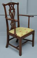 Elegant Chippendale Revival Mahogany Elbow Chair (3 of 13)