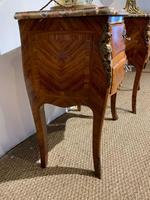 Pair of Marble Topped Bedside Cabinets (4 of 6)