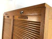 Vintage French Mid Century Double Filing Cabinet Tambour Roller Shutter by G Moreux (6 of 13)