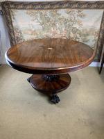 English Regency Rosewood Tilt Top Centre Table (3 of 7)