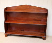 Edwardian Open Mahogany Bookcase c.1910 (2 of 12)