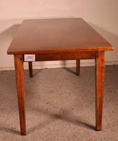 19th Century French Table in Cherrywood - Two Drawers (3 of 8)