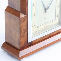 Smiths Art Deco Burr Walnut Cased 8-Day Mantle Clock c1935 (2 of 9)