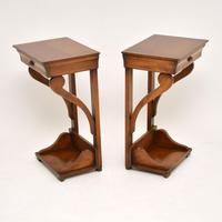 Pair of Antique Empire Style Fruitwood Side Tables (2 of 8)