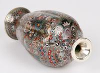 Oriental, Chinese / Japanese Exceptional Silver Metal Cloisonne Vase (20 of 25)