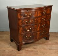 Regency Mahogany Serpentine Chest of Drawers (3 of 11)