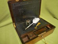 Quality Fully Brass Bound Rosewood Writing Box. Many Features. C1875 (2 of 16)