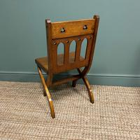 Quality Pair of Oak Hall Chairs by Shoolbred (5 of 7)