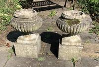 Weathered Reconstituted Pressed Stone Garden Urns (7 of 7)
