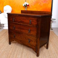 Oak Chest of Drawers Solid Wild Oak c.1920 (3 of 13)