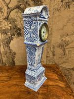 Rare 19th Century Dutch Delft Clock (4 of 8)