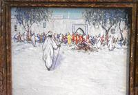 North African market scene oil painting (4 of 9)