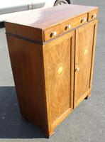 1940s Walnut Tallboy with Good Inlay Detailing (2 of 4)