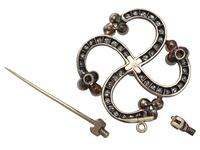 1.50ct Diamond & Pearl, 9ct Yellow Gold Brooch - Antique Victorian (6 of 9)