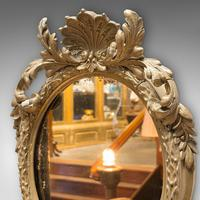 Antique Wall Mirror. French, Gilt Gesso, Oval, Ornate, Victorian c.1850 (7 of 9)
