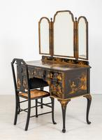 Queen Anne Style Chinoiserie Dressing Table & Chair (10 of 22)