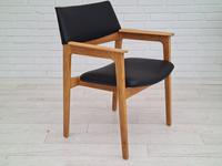 Danish design, Bjerringbro Savværk Møbelfabrik, 1970s, set of 6 dining armchairs, reupholstered (14 of 18)