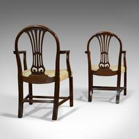 Pair of Antique Hepplewhite Revival Carvers, Mahogany, Armchair, Victorian (9 of 12)