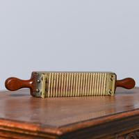Victorian Mahogany & Brass Pill Maker (8 of 9)