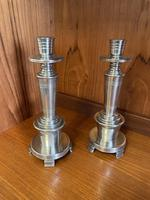 Art Deco Candlesticks. Harold Stabler for James Dixon & Sons