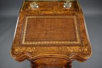 Victorian Burr Walnut Inlaid Davenport Desk (5 of 9)