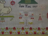 Good 19th Century Embroidery Sampler by Jane Kay 1897 (4 of 8)