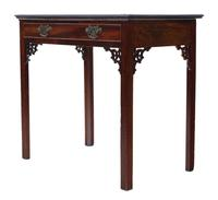 Georgian C1800 Cuban mahogany writing side table desk (3 of 8)