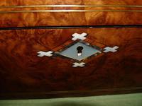 Quality Inlaid Burr Walnut Jewellery Box + Tray. c1875. (9 of 12)