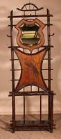 Coat Stand & Umbrella Stand in Bamboo & Cast Iron c.1900