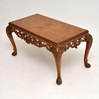 Antique Burr Walnut Queen  Anne Style Coffee Table (3 of 10)