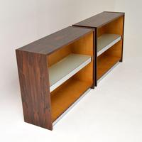 Pair of Rosewood & Chrome Bookcase / Cabinets by Merrow Associates (8 of 12)