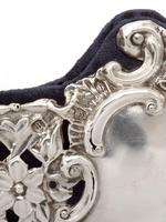 Late Victorian Silver Photo Frame Embossed and Pierced with Scrolls and Floral Scenes (5 of 5)