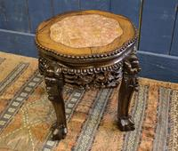 19th Century Chinese Rosewood & Marble Jardinière Stand / Lamp Table (7 of 11)