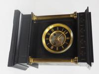 Antique French Slate Mantel Clock 8-Day Square Bracket Striking Mantle Clock with Gilt Decoration (7 of 11)